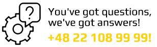 you've got questions, we've got anserws +48 22 108 99 99