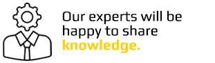 our experts will be happy to share knowledge